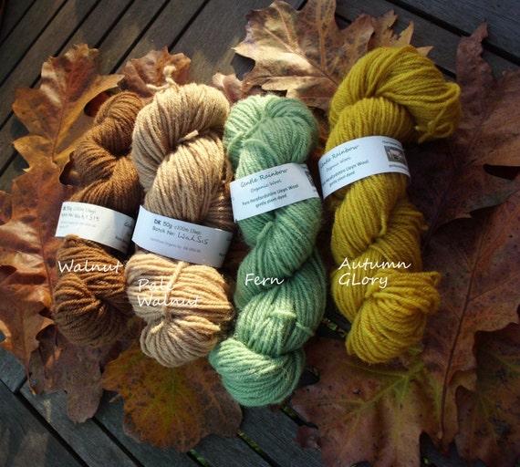 50g Skein Of Organic Wool Yarn DK By GentleRainbowOrganic