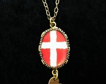 Dannebrog - Danish Flag Necklace