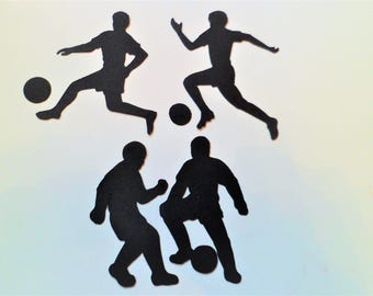Silhouette Die Cut Footballers x 12 (3 of each)