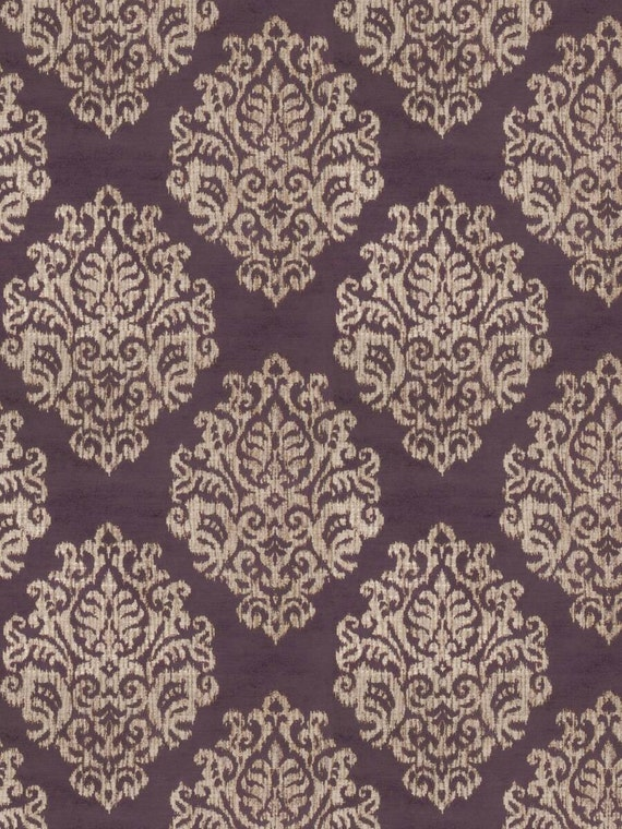 Upholstery Geometric Purple Fabric by the Yard Home Decor