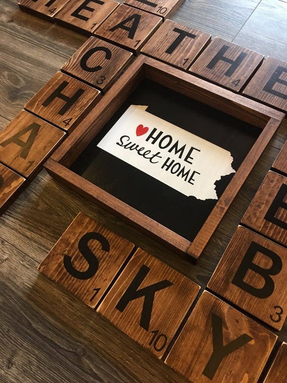 Home Decor Home Sweet Home State Wall Art By Traylormadedesigns
