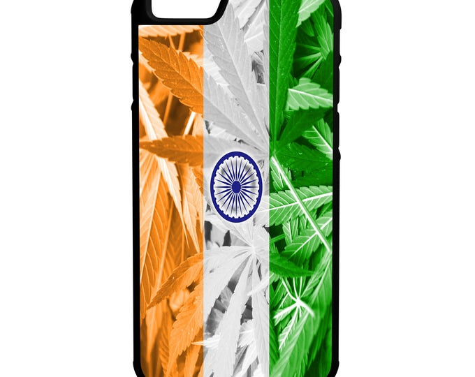 India Weed Flag iPhone Galaxy Note LG HTC Hybrid Rubber Protective Case