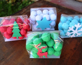 Holiday Seed Bomb Gift- your choice colors and seed paper shape