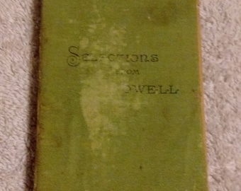 Selections From the Writings of James Russell Lowell, 1888 , cloth cover and spine