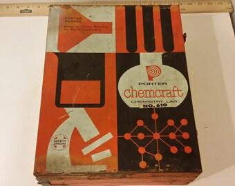 Vintage Porter Chemcraft Chemistry Lab #610, 1950's