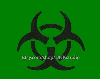 Biohazard Embroidery Design - 5 Sizes - INSTANT DOWNLOAD