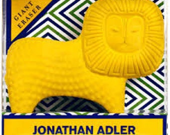 Hard To Find Mid Century Style Jonathan Adler Giant Lion Eraser