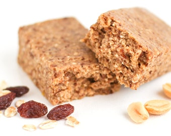 Healthy Protein Powder-Free DIY Protein Bars Recipe - Refined Sugar Free, Gluten Free, Vegan, Healthy, All Natural (PDF Download)