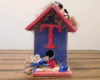 Texas Rangers Birdhouse