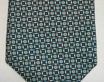 Vintage Rooster West End Collection men's silk geometric neck tie