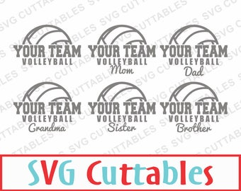 Volleyball SVG, DXF, EPS, Volleyball Mom Vector, Digital Cut File