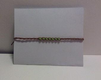 Braided Green Wish Bracelet