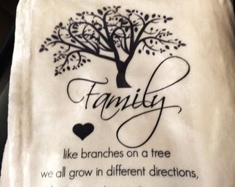 Personalized Throw Blanket - a Family Tree!