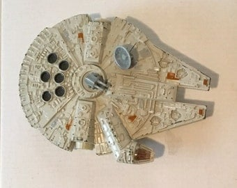 Millennium Falcon - die cast, Star Wars, original 3 movies - plastic