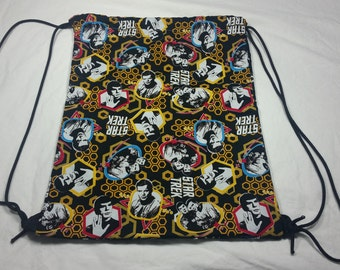 Drawstring Bag Made With Star Trek TOS Fabric (Reversible), Star Trek Bag, Star Trek Fabric, Awesome Bag, Nerdy Gift, Nerdy Backpack