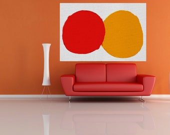 large canvas painting abstract Large red orange abstract painting large abstract modern minimalist large painting wall art Home decor USA