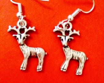Stag Reindeer Earrings