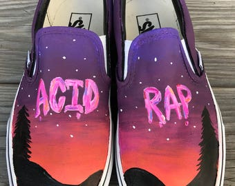 Chance The Rapper Acid Rap Painted Shoes