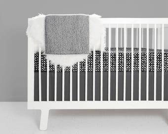 modern crib bedding set swirl design modern nursery black and white nursery