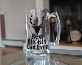 Best Buckin Dad Ever Beer Mug Father's Day