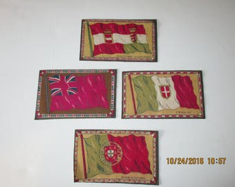 Tobacco Flags - Four European Countries