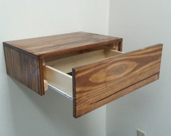 Floating Side Table with Drawer