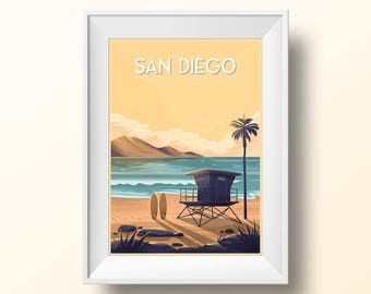 San Diego Travel Poster