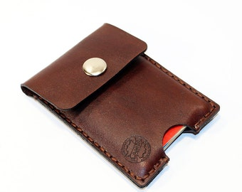 Credit Card Holder leather , Business Card Holder, Brown Leather Credit Card Wallet, Brown Card Holder. Great Gift.