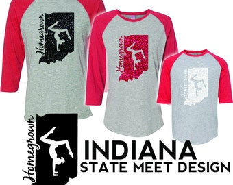 YOUTH FIT Indiana Homegrown Gymnast Tee