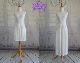White Half Slip For lighter colored infinity dresses.