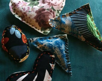 Patterned Fabric Catnip Toys