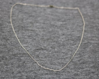 Sterling Silver, Vintage Thin Necklace