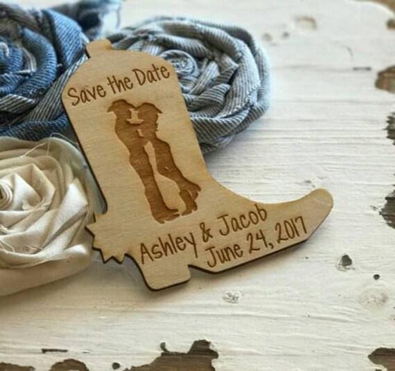 Cowboy Wedding Gifts: 50 Cowboy Boot Wedding Favor Magnets Wedding Favours Bride