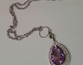 Free Shipping! Sofia amulet necklace, purple amulet necklace