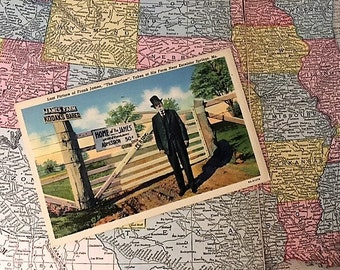 American Outlaw - Vintage Linen Postcard of the Outlaw Jesse James