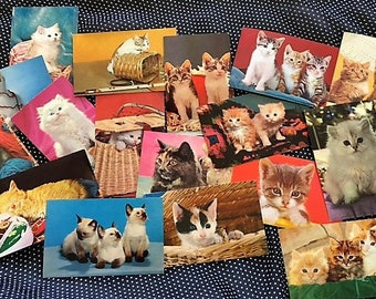 Lots of 25 Cat and Dog Postcards - Midcentury Kitsch