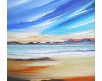 Arran by Kirsten Boston, Giclée Fine Art Print, Signed, Scottish Landscape, Seascape