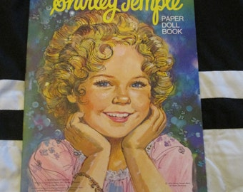 Shirley Temple Paper Doll Paperdoll Book 1976 Uncut Whitman Book