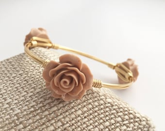 Flower Wire Wrapped Bangle, Wire Wrapped Bracelet, Wire Wrap Bangle, Wire  Bangle, Flower Bracelet