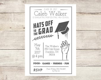 Gender Neutral Graduation Party Invitation