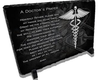 Doctors Prayer Stone Plaque