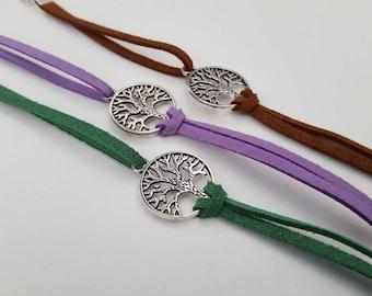 Tree of Life Suede Bracelets