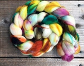 HUNDREDS AND THOUSANDS color, Superwash Targhee spinning fiber, roving, handpainted, hand dyed, combed top, domestic, American made, wool