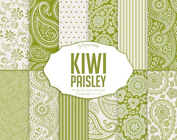 Green paisley pattern