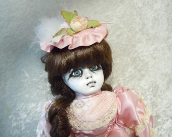 Sad Creepy Doll in Pink #44  Day of the Dollies