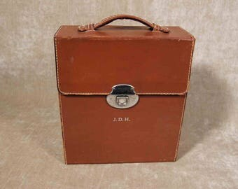 Rumpp Leather Monogram Travel Bar briefcase hand bag carry all