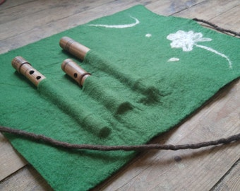 Handmade Kaval / Flute / Ney Case - felted from Merino Wool