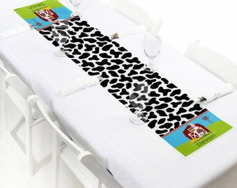 Farm Animals Petite Table Runner - Custom Baby Shower or Birthday Party Decorations - Personalized Party Supplies
