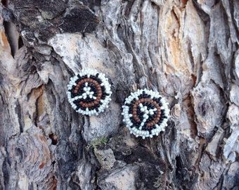 Vintage Beaded Stud Earrings