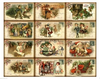 Antique Vintage Christmas Images Download Printable Tags Cards